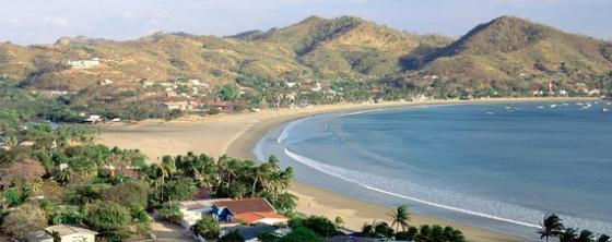 The town of San Juan del Sur on Nicaragua's Pacific Coast.
