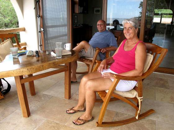 Patrick Ruddy  Bob and Sheri Schmidt, retirees from St. Paul, at their home in Hacienda Iguana.