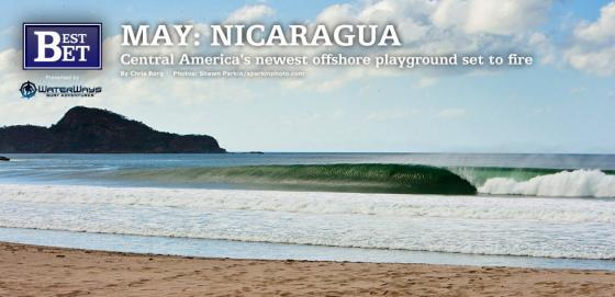 offshore winds and sand bottom surfing in Nicaragua