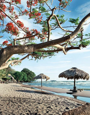 The great lake Beaches—like this one in front of the Hotel Villa Paraíso—ring Ometepe Island, giving access to freshwater Lake Nicaragua (at three thousand square miles, the largest in Central America).